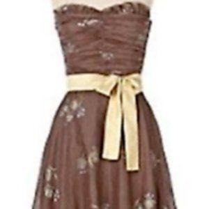 NWT Anthropologie Odille 4 Tea Dress Strapless
